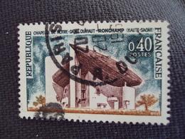 """1965- Timbre Oblitéré N°   1435a   """" Notre Dame De Ronchamp       """"     0.25 - Oblitérés"""