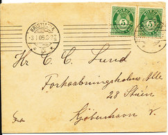 Norway Cover Sent To Denmark Kristiania 3-1-1905 - Norway