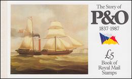 Großbritannien-Markenheftchen 80 The Story Of P & O 1987 ** - Markenheftchen