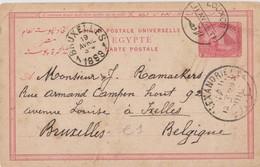 Egypte Entier Postal 1898 Scan R/V - Égypte