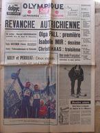 Journal Olympique Soir (10 Fév 1968) Edité Pendant Les JO De Grenoble - Pall - Mir - Killy Périllat - 1950 à Nos Jours