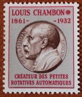 """France Rare Vignette Expérimentale Dite """"Chambon"""" Ch2** Luxe Gomme D'origine, Cote 4 €, Voir Les 2 Photos ! - Fictifs"""