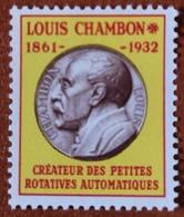 """France Rare Vignette Expérimentale Dite """"Chambon"""" Ch4** Luxe Gomme D'origine, Cote 4 €, Voir Les 2 Photos ! - Fictifs"""