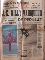 Journal Olympique Soir (9 Fév 1968) Edité Pendant Les JO De Grenoble - Descente Killy Périllat - 1950 à Nos Jours