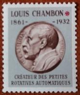 """France Rare Vignette Expérimentale Dite """"Chambon"""" Ch6** Luxe Gomme D'origine, Cote 4 €, Voir Les 2 Photos ! - Fictifs"""