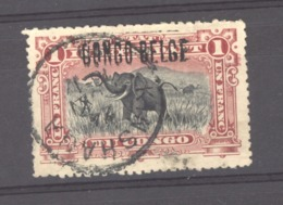 Belgique  -  Congo  :  COB  36 B  (o)  Surcharge B4 - 1894-1923 Mols: Gebraucht