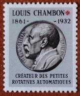 """France Rare Vignette Expérimentale Dite """"Chambon"""" Ch9** Luxe Gomme D'origine, Cote 4 €, Voir Les 2 Photos ! - Fictifs"""