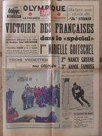 Journal Olympique Soir (13 Fév 1968) Edité Pendant Les JO De Grenoble - Victoire Françaises Slalom Spécial - 1950 à Nos Jours