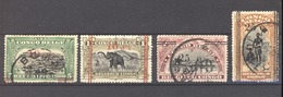 Belgique  -  Congo  :  Yv  100-03  (o) - 1894-1923 Mols: Oblitérés