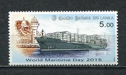 SRI LANKA 2015 WORLD MARITIME DAY 2015 MNH - Sri Lanka (Ceylon) (1948-...)