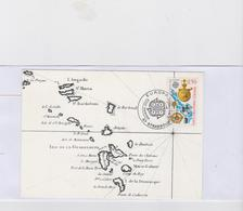 FRANCE 1 Carte FDC N°YT 2755 1992 500ans Découverte Amérique - Cachet Strasbourg 9 Mai 1992 - Postal Stamped Stationery