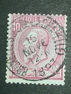 COB N ° 46 Oblitération Bruxelles (Place De La Chapelle) 1893 - 1884-1891 Léopold II
