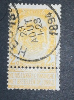 COB N ° 54 Oblitération Heule 1894 - 1893-1900 Fine Barbe