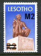 Lesotho 1980-81 New Currency - Typo Overprint - No Wmk. - 2m On 2r Moshoeshoe I MNH (SG 417A) - Lesotho (1966-...)