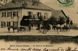 13065 - Hte Savoie -  St PIERRE De RUMILLY :  Hotel Franco Suisse  Attelages , Enfants Jouants  -  Circulée En 1903 - Frankrijk