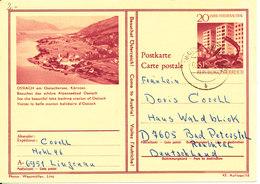 Austria Postal Stationery Postcard Lingenau 2-8-1966 (Ossiach) - Stamped Stationery