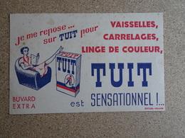 Buvard Ancien - Publicitaire - Je Me Repose Sur Tuit (vaisselles,carrelages,linge De Couleur ) Sofoga Albertville - Food