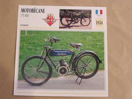 MOTOBECANE 175 MB1 France 1924 Moto Fiche Descriptive Motocyclette Motos Motorcycle Moto Motocyclette - Fiches Illustrées