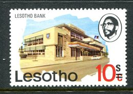 Lesotho 1980-81 New Currency - Litho Overprint - Wmk. - 10s On 10c Bank MNH (SG 405B) - Lesotho (1966-...)