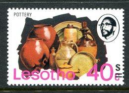 Lesotho 1980-81 New Currency - Litho Overprint - Wmk. - 40s On 40c Pottery MNH (SG 406B) - Lesotho (1966-...)