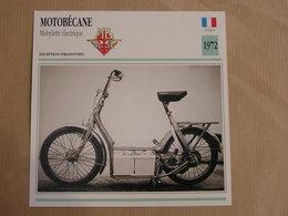 MOTOBECANE Mobylette Electrique France 1972 Moto Fiche Descriptive Motocyclette Motos Motorcycle Moto Motocyclette - Fiches Illustrées