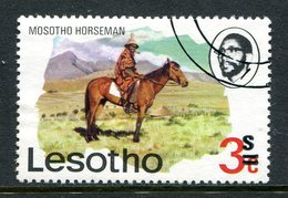 Lesotho 1980-81 New Currency - Litho Overprint - Wmk. - 3s On 3c Horseman Used (SG 403B) - Lesotho (1966-...)