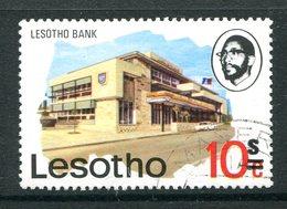 Lesotho 1980-81 New Currency - Litho Overprint - Wmk. - 10s On 10c Bank Used (SG 405B) - Lesotho (1966-...)