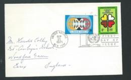 Lsc  Affranchie Pour La  Grande Bretagne En Sept  1971 , Oblitéré United Nations New York   - Qaa5807 - New York -  VN Hauptquartier