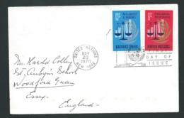 Lsc  Affranchie Pour La  Grande Bretagne En Nov 1970 , Oblitéré United Nations New York   - Qaa5810 - New York -  VN Hauptquartier