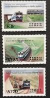 Zambia   1986 Tazara Railroad 10th. Anniv. LOT - Zambie (1965-...)