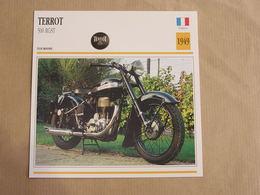 TERROT 500 RGST France 1949 Moto Fiche Descriptive Motocyclette Motos Motorcycle Moto Motocyclette - Sammelkarten, Lernkarten