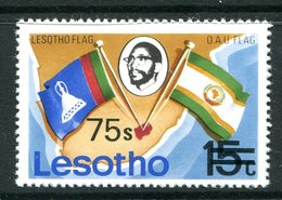 Lesotho 1980-81 New Currency - Litho Overprint - No Wmk. - 75s On 15c Flags MNH (SG 415B) - Lesotho (1966-...)