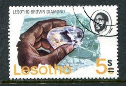 Lesotho 1980-81 New Currency - Litho Overprint - No Wmk. - 5c On 5s Diamond Used (SG 410B) - Lesotho (1966-...)