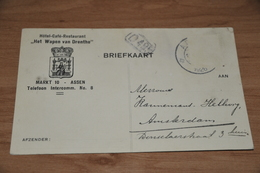 21-   BEDRIJFSKAART,  HOTEL CAFE RESTAURANT  HET WAPEN VAN DRENTHE - 1926 - Kaarten