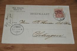 23-     BEDRIJFSKAART, WED. KRAUS, ROTTERDAM - 1901 - Kaarten