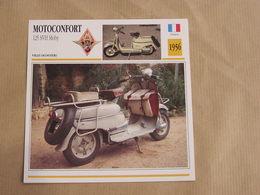MOTOCONFORT Scooter 125 SVH Moby France 1956 Moto Fiche Descriptive Motocyclette Motos Motorcycle Moto Motocyclette - Sammelkarten, Lernkarten