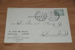 25-     BEDRIJFSKAART, G. VAN DE MAST, NIJKERK - 1911 - Kaarten