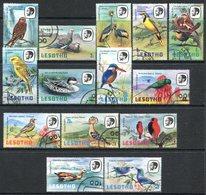 Lesotho 1981 Birds Set Used (SG 437-450) - Lesotho (1966-...)