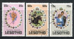 Lesotho 1981 Royal Wedding Set Used (SG 451-453) - Lesotho (1966-...)