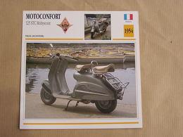 MOTOCONFORT Scooter 125 STC Mobyscoot France 1954 Moto Fiche Descriptive Motocyclette Motos Motorcycle Moto Motocyclette - Sammelkarten, Lernkarten