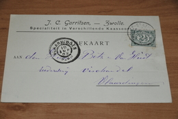 26-     BEDRIJFSKAART, KAASSPECIALITEITEN, J.C. GARRITSEN, ZWOLLE - 1902 - Kaarten