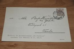 27-     BEDRIJFSKAART, DISTILLIJ. EN ALCOHOLFABRIEK  DE PAPEGAAI, DELFT - 1921 - Kaarten