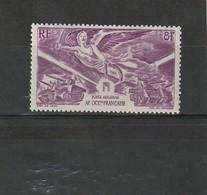 A.O.F  Neuf *  1946  Poste Aérienne N° 4  Anniversaire De La Victoire - Ongebruikt