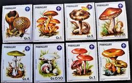 # Paraguay 1985**Mi.3835-41 Mushrooms , MNH [8] - Champignons