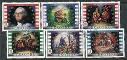 Lesotho 1982 250th Birth Anniversary Of George Washington Set Used (SG 493-498) - Lesotho (1966-...)