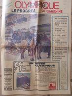 Journal Olympique Spécial  - Le Progrès Le Dauphiné - Supplément Gratuit J.O De Grenoble 1968 - 1950 à Nos Jours