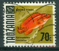 BM Tansania 1967 | MiNr 27 [1969] | Used | Fische, Epinephelus Fasciatus - Tansania (1964-...)