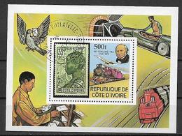 COSTA D'AVORIO   1979 FOGLIETTO SIR ROWLAND HILL YVERT. BF.14 USATO VF - Côte D'Ivoire (1960-...)