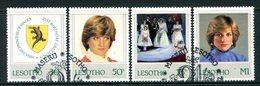 Lesotho 1982 21st Birthday Of Princess Of Wales Set Used (SG 514-517) - Lesotho (1966-...)