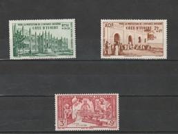 Cote D'Ivoire  Neuf *  1942  Poste Aérienne N° 6/8  Protection De L'enfance Indigène - Côte-d'Ivoire (1892-1944)